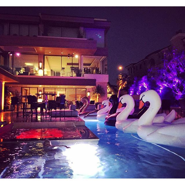 Night Pool Party Ideas For Adults  White Swan Pool Float pool party