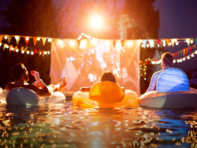 Night Pool Party Ideas For Adults  Best Projectors for Outdoor Movies Mumtastic