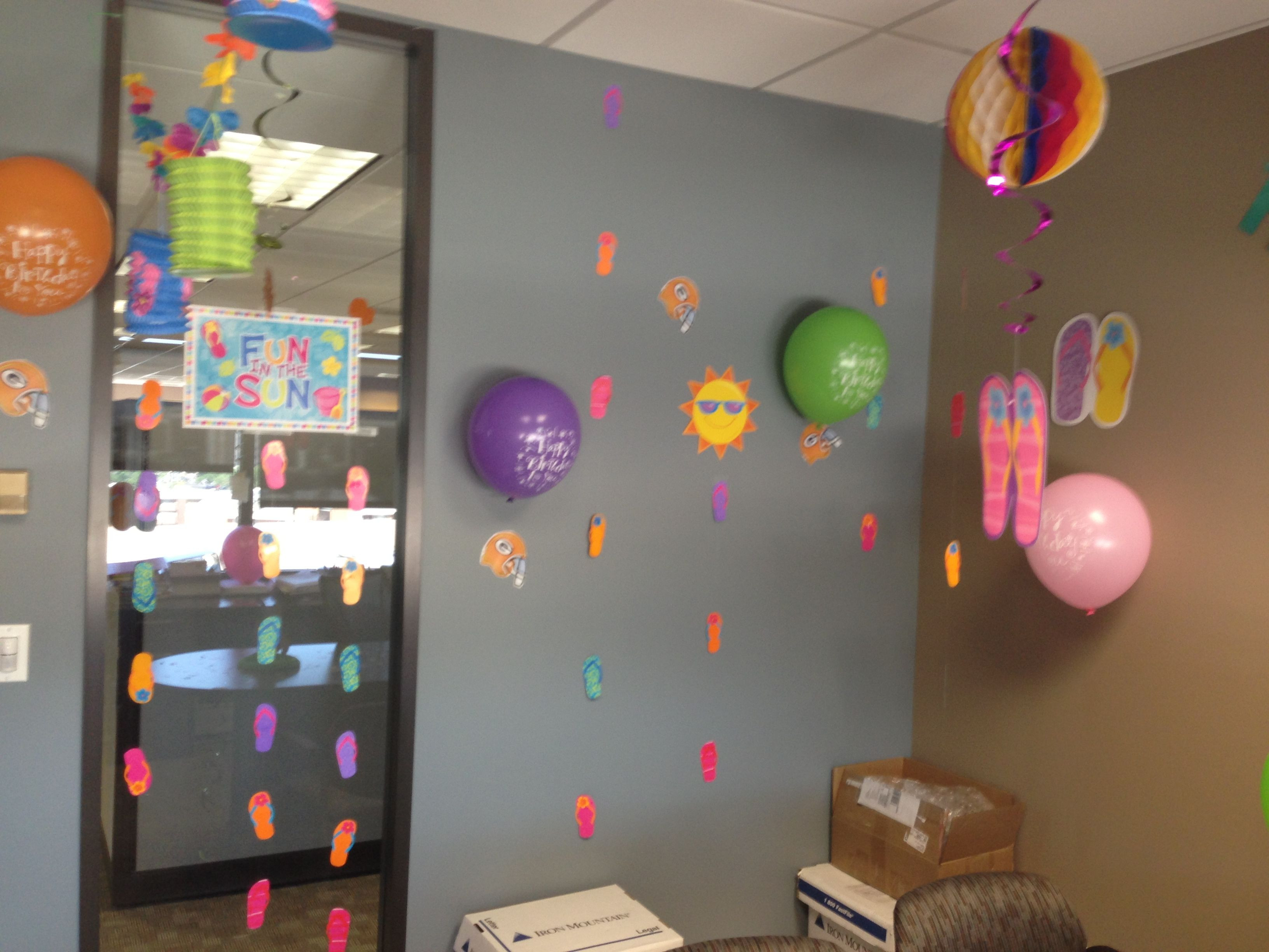 Office Party Ideas For Summer  fice birthday decorations Summer themed