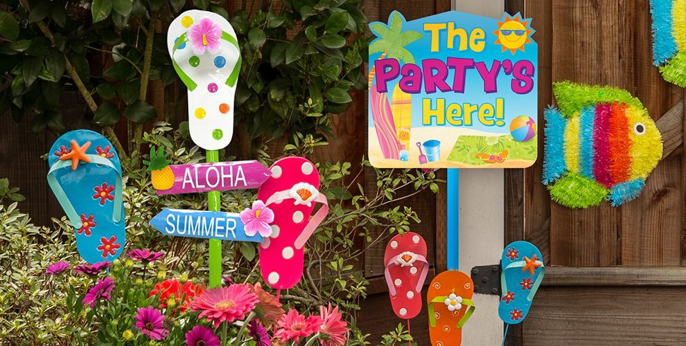 Office Party Ideas For Summer  Summer Yard Signs & Decorative Garden Stakes Party City