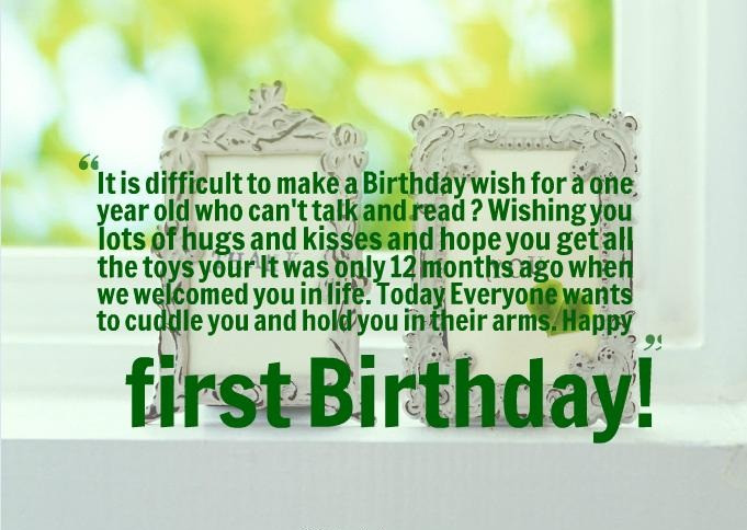 One Year Old Birthday Quotes  Birthday Quotes for one year old Baby 3 – Funpro