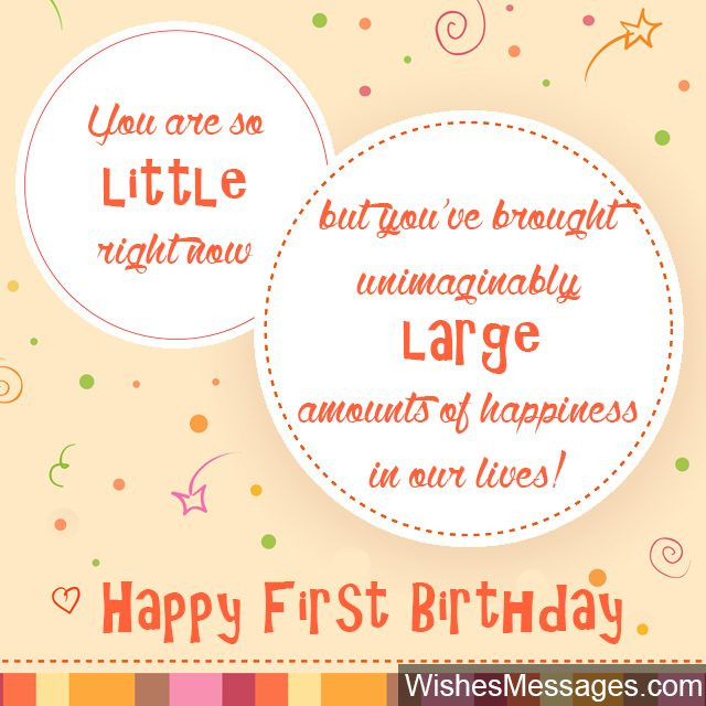 One Year Old Birthday Quotes  1st Birthday Wishes First Birthday Quotes and Messages