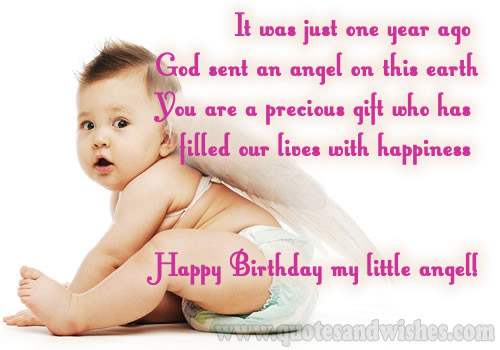 One Year Old Birthday Quotes  Baby Girl Birthday Quotes QuotesGram