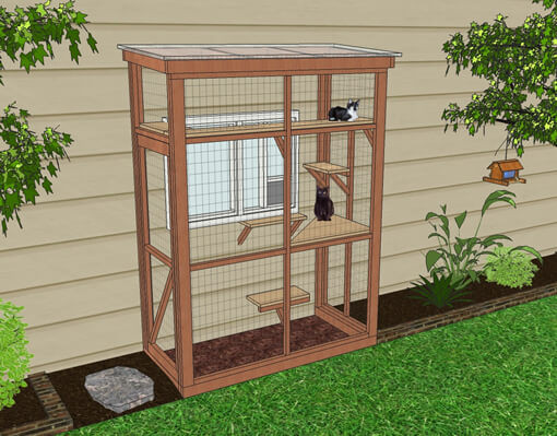 Outdoor Cat Enclosure DIY  DIY Catio Plan The HAVEN™ Catio Plans with 3x6 and 4x8