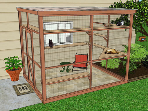 Outdoor Cat Enclosure DIY  DIY Catio Plan The Sanctuary™ Catio Plans with 6x8 and