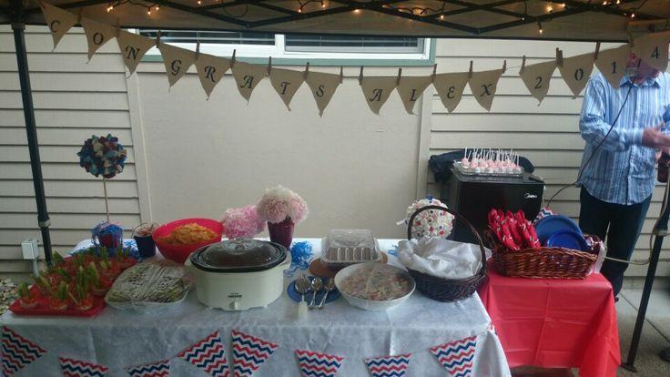 Outdoor Graduation Party Food Ideas  Graduation party food table