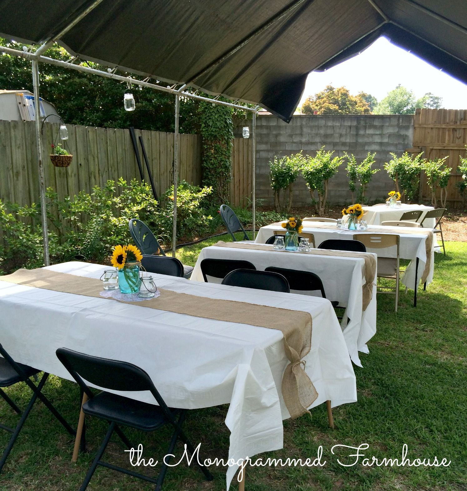 Outside Graduation Party Ideas  Rustic Country Themed Graduation Party