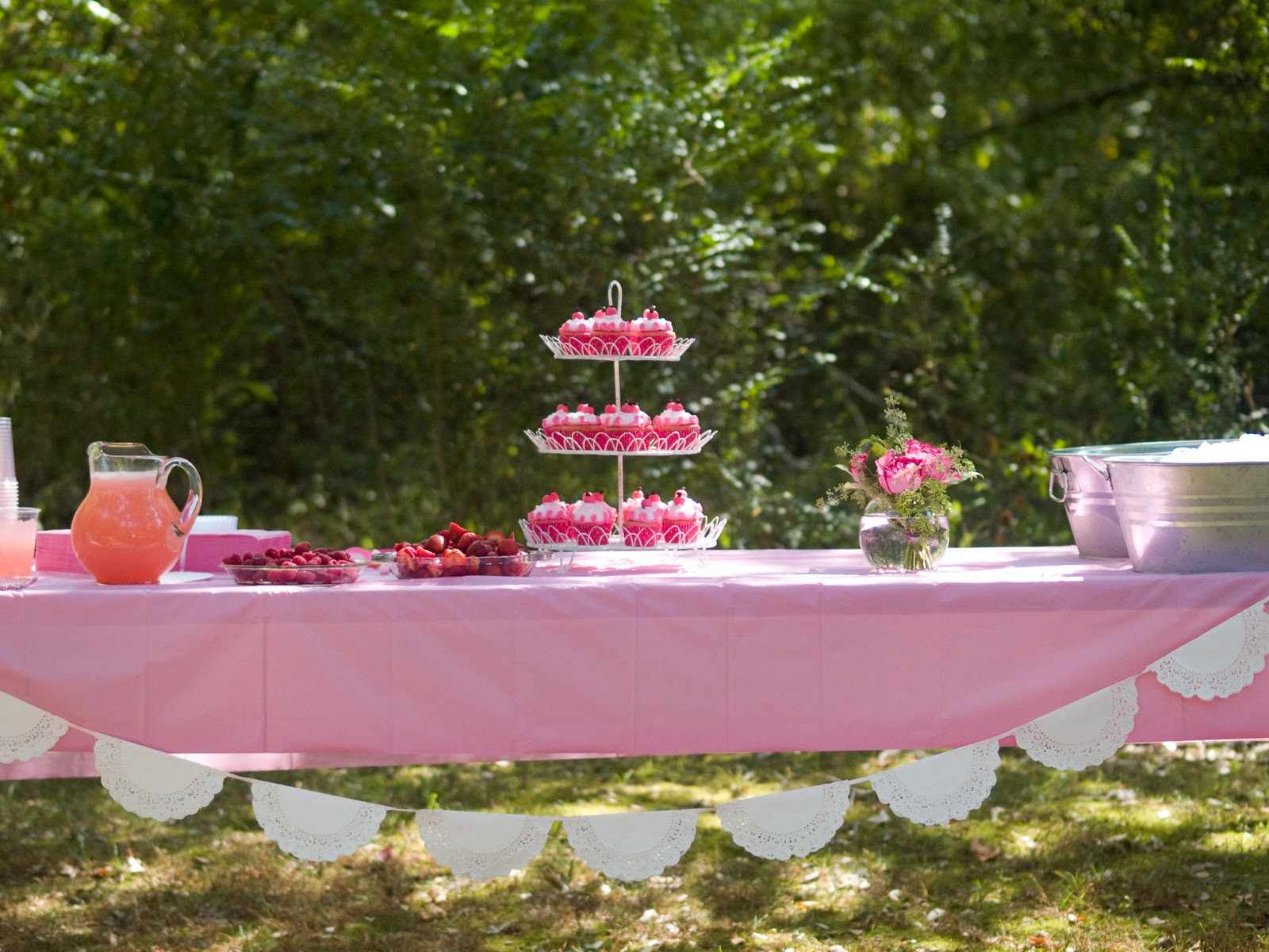 Outside Graduation Party Ideas  Love Laughter and Lyrics avery s pinkalicious party