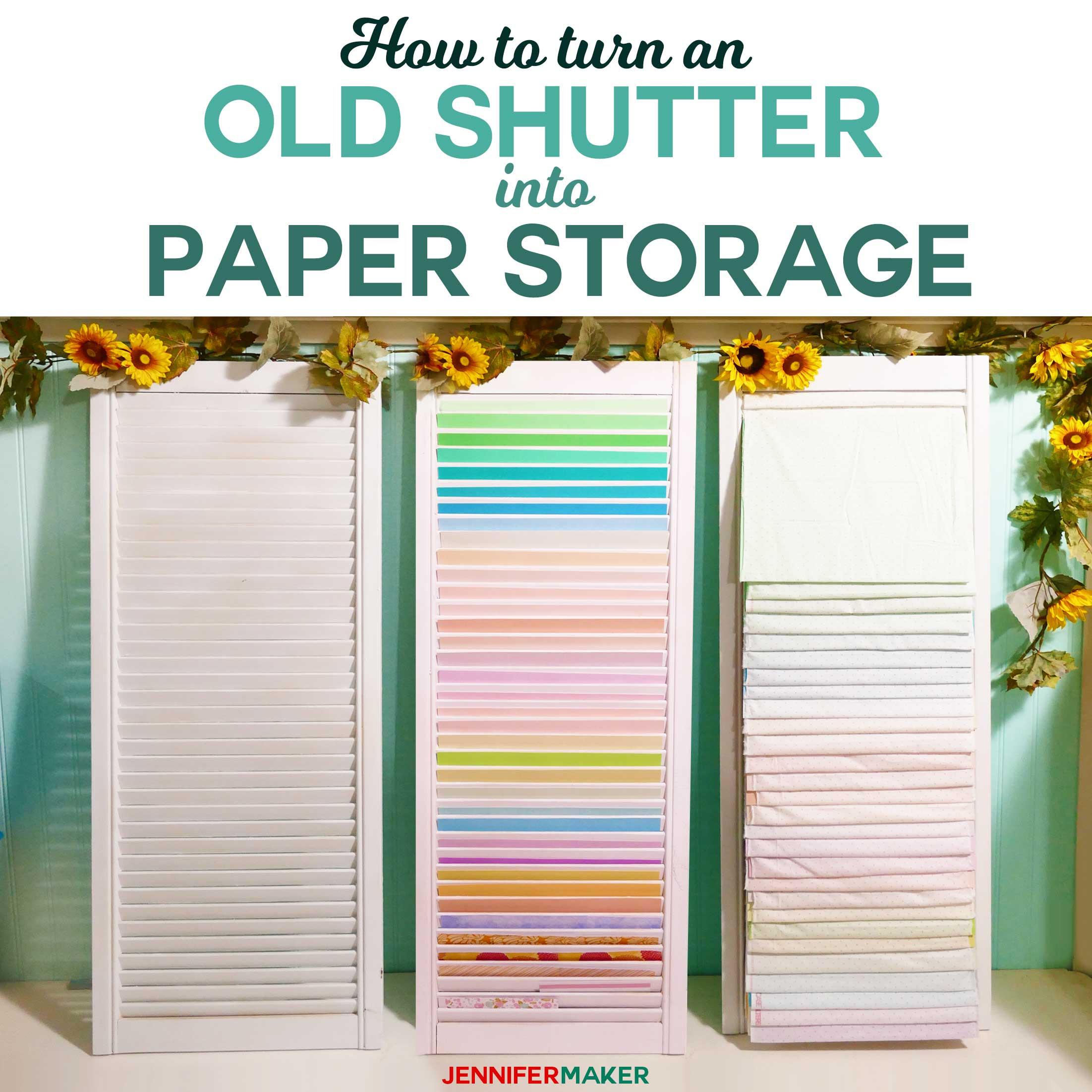 Paper Organizer DIY  DIY Paper Organizer Made from Repurposed Shutters