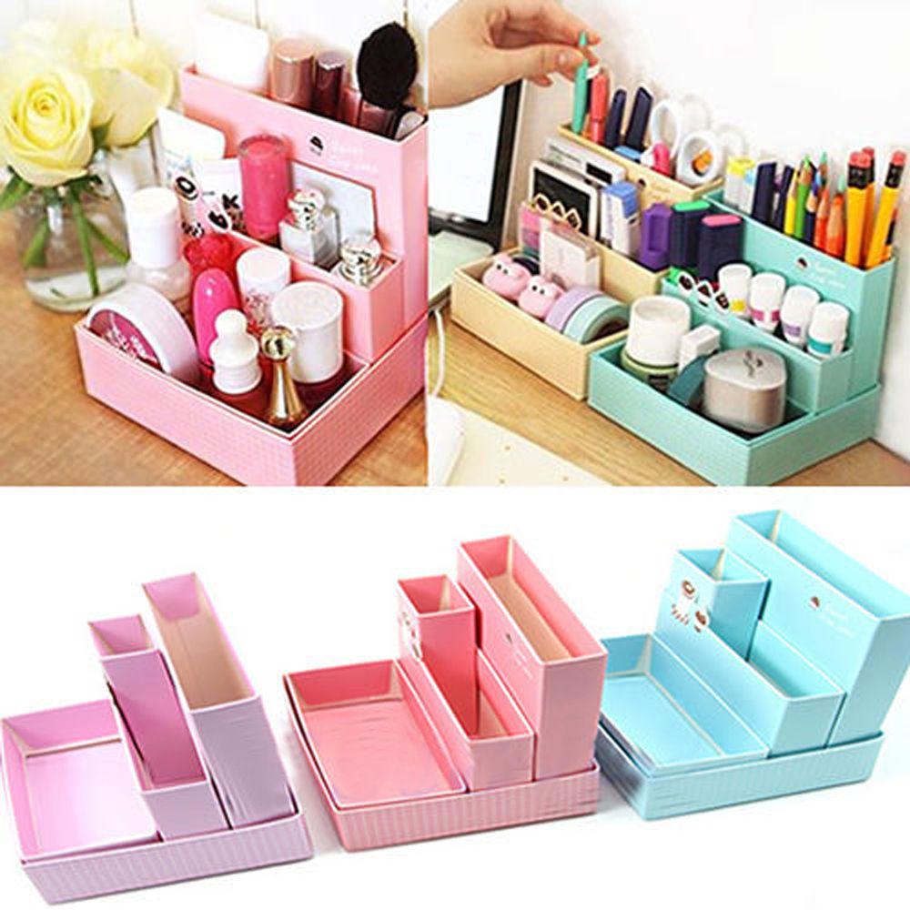 Paper Organizer DIY  Home DIY Makeup Organizer fice Paper Board Storage Box