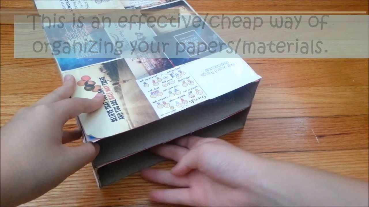 Paper Organizer DIY  DIY Paper Organizer Shelf