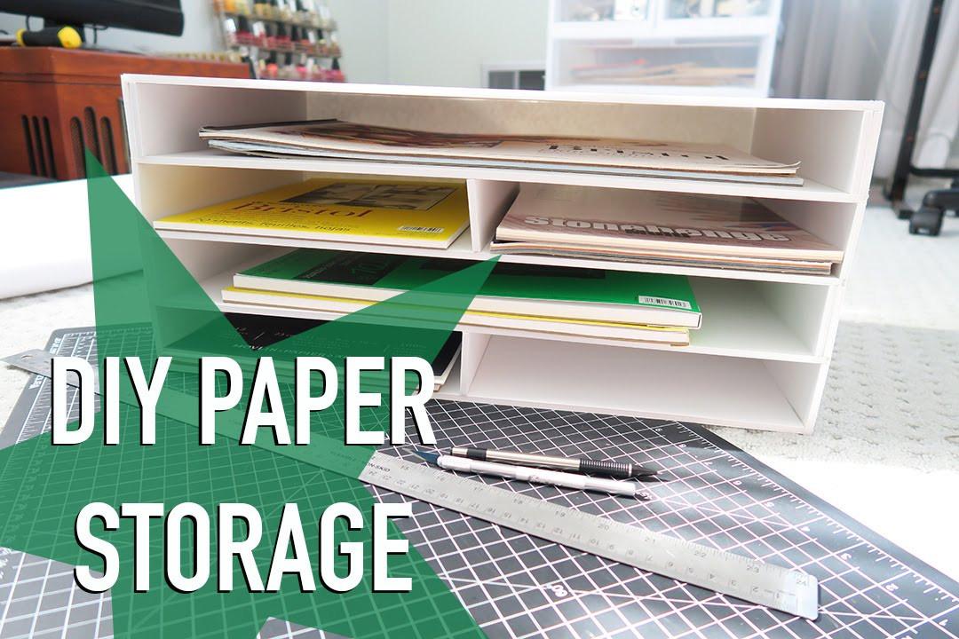 Paper Organizer DIY  DIY Paper Storage & ANNOUNCEMENT