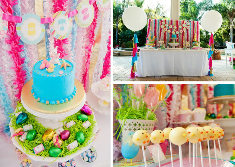 Party Ideas For Easter  Kara s Party Ideas Classic Pastel Boy Girl Easter Bunny