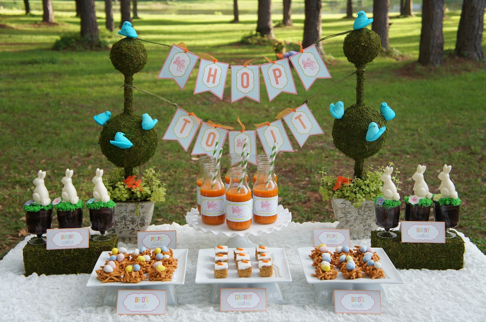 Party Ideas For Easter  Hop Over Easter Party Real Parties I ve Styled