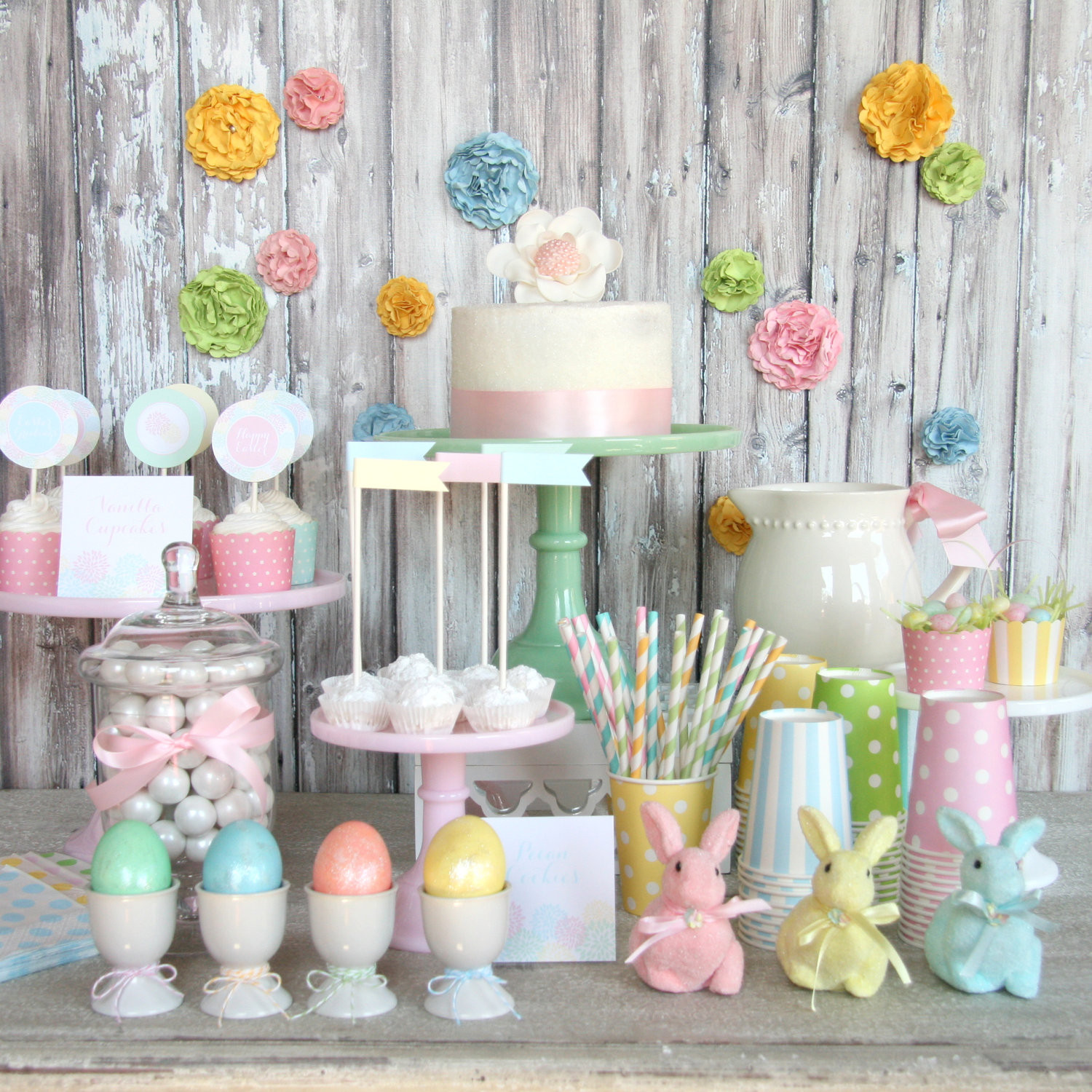 Party Ideas For Easter  28 CUTE PASTEL EASTER DECORATIONS Godfather Style