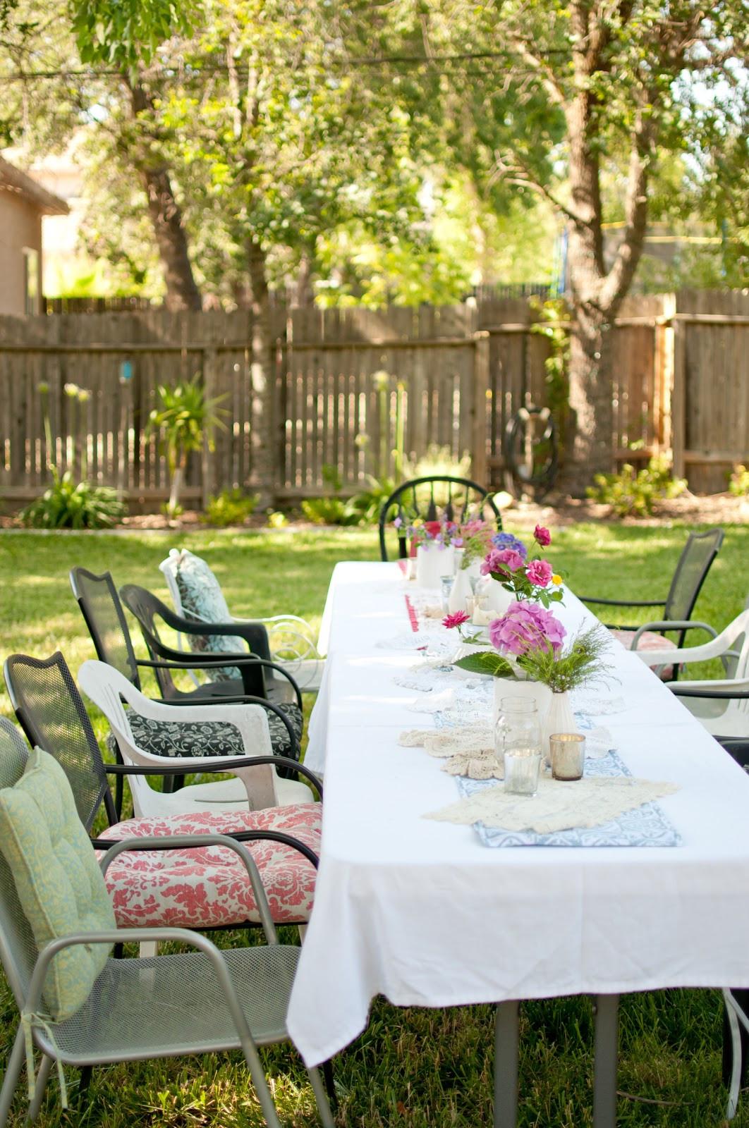 Party In Backyard Ideas  Domestic Fashionista Summer Backyard Birthday Party