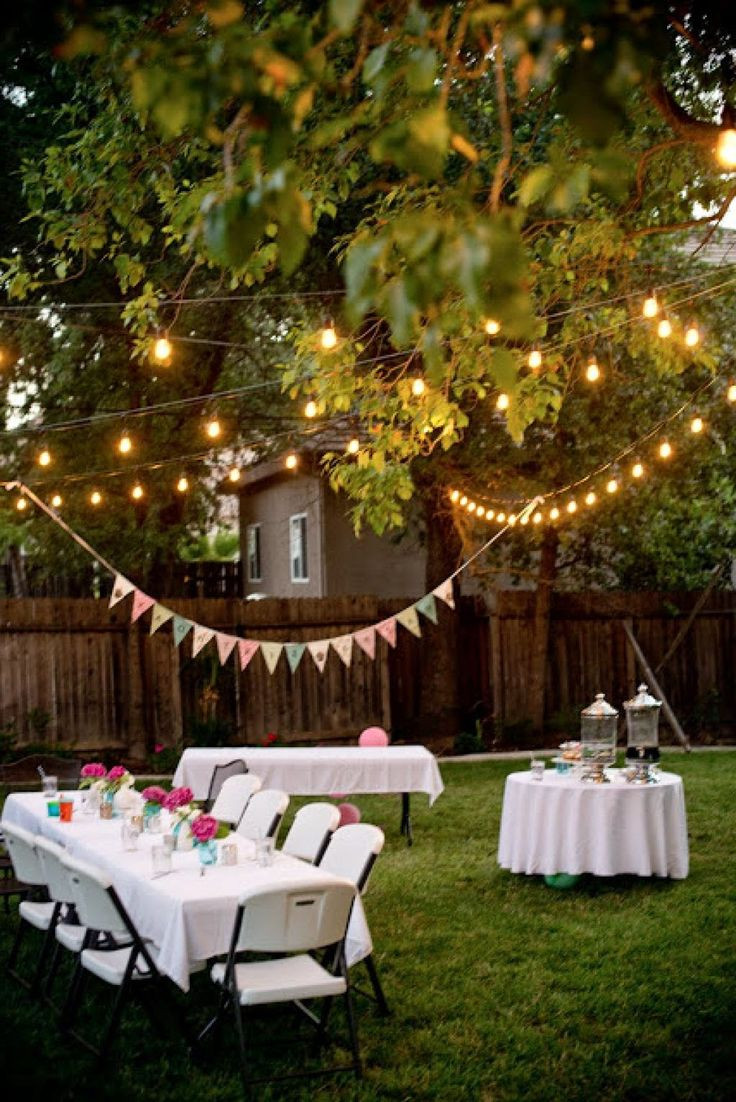 Party In Backyard Ideas  Backyard party decorating