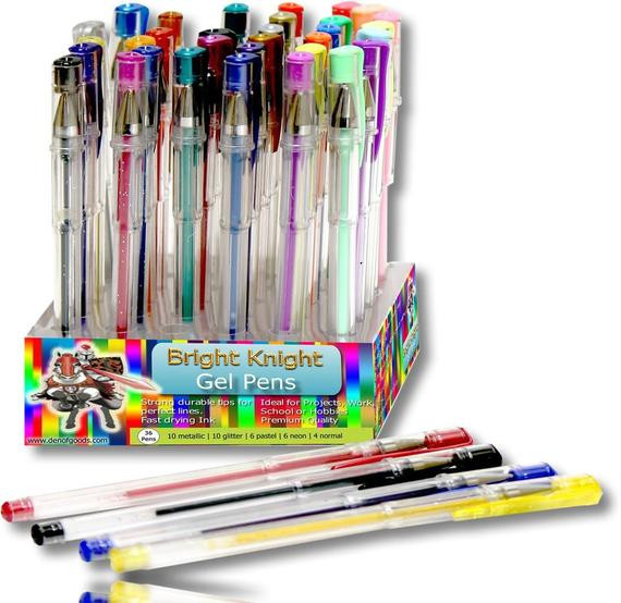 Pens For Adult Coloring Books  36 Coloring Gel Pens Adult Coloring Books by