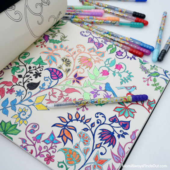 Pens For Adult Coloring Books  How To Relax with Gel Pens and Adult Coloring Books