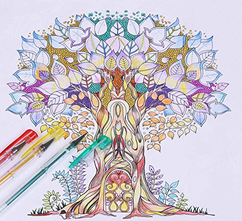 Pens For Adult Coloring Books  Shuttle Art 40 Colors Glitter Gel Pens Glitter Gel Pen Set