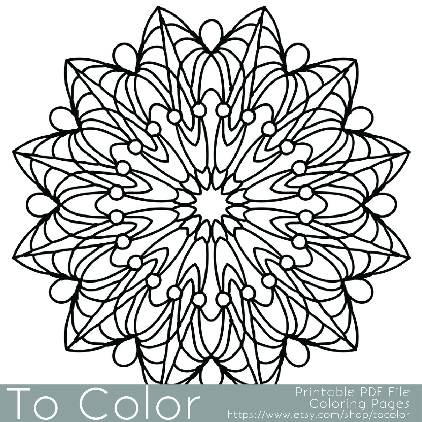 Pens For Adult Coloring Books  Simple Printable Coloring Pages for Adults Gel Pens Mandala