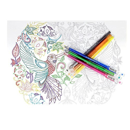 Pens For Adult Coloring Books  Tanmit Ultra Fine Point Color Gel Pens with Diamond Tip