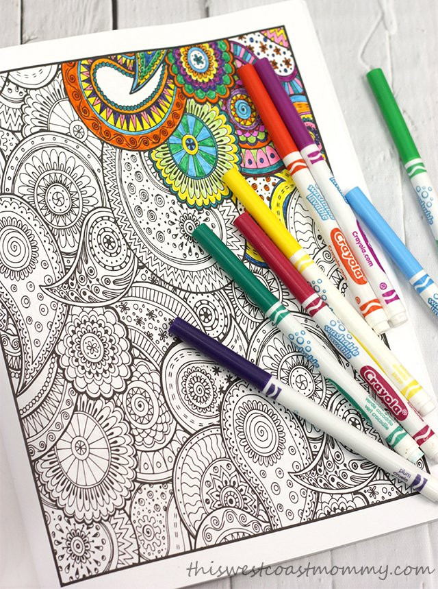 Pens For Adult Coloring Books  Relax with Adult Colouring Books from Vintage Pen Press