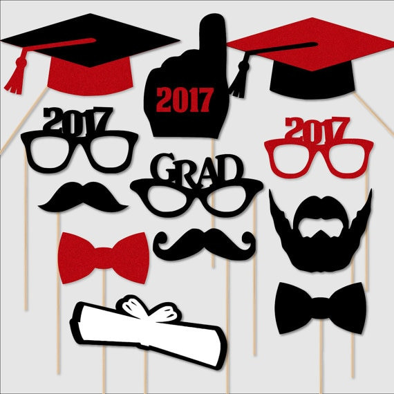 Photo Booth Ideas For Graduation Party  custom 2017 2018 Graduation Portrait Glasses Birthday