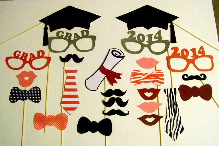 Photo Booth Ideas For Graduation Party  booth props Graduation parties and Parties