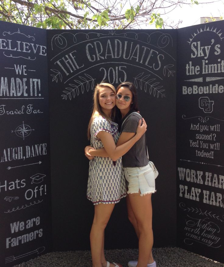 Photo Booth Ideas For Graduation Party  Graduation chalkboard photo board