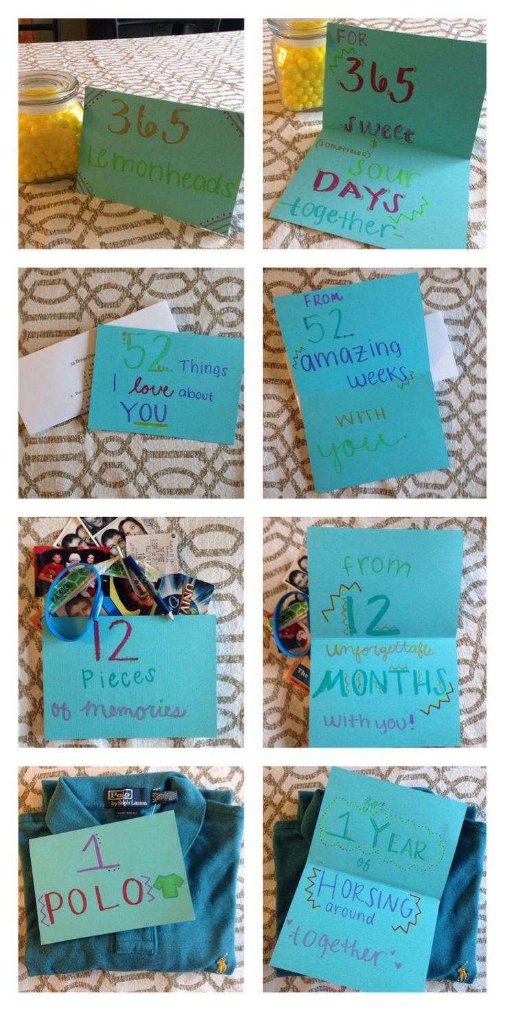 Picture Gift Ideas For Boyfriend  e year anniversary with my boyfriend t