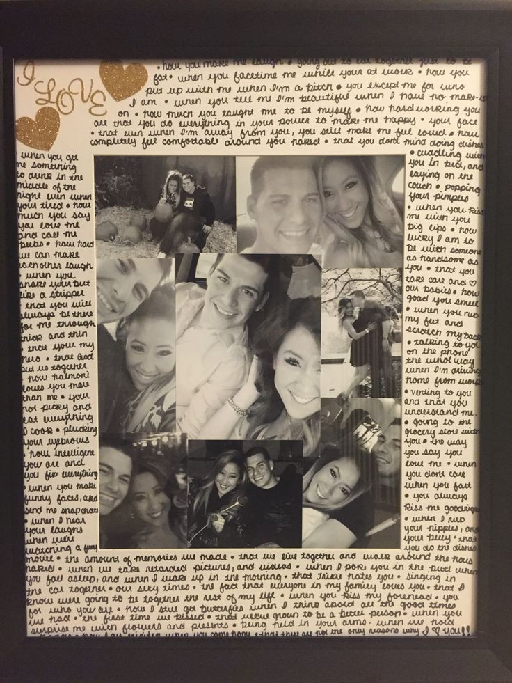 Picture Gift Ideas For Boyfriend  Picture frame I made for a t for my boyfriend