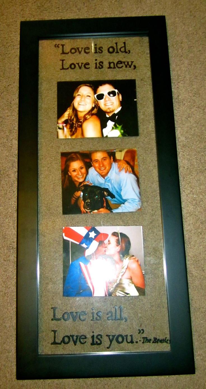 Picture Gift Ideas For Boyfriend  Best 25 Boyfriend picture frames ideas on Pinterest