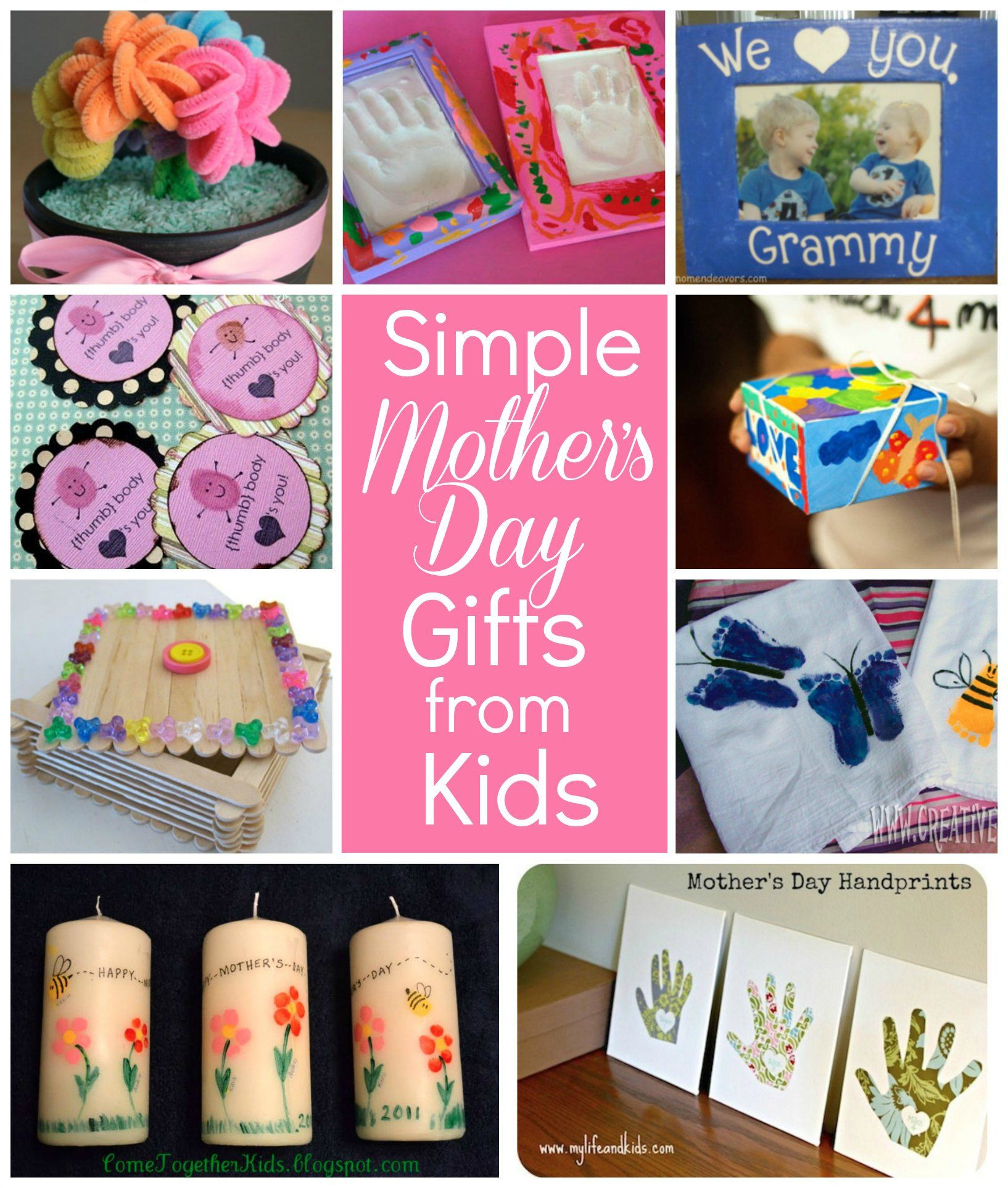 Pinterest Mothers Day Gift Ideas  10 Simple Mothers Day ts kids can make MothersDay via