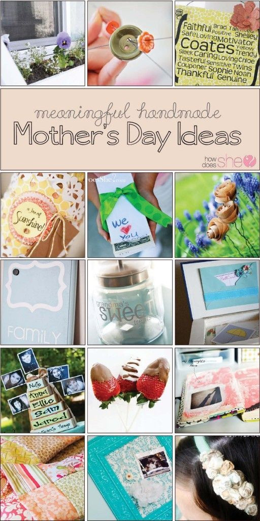 Pinterest Mothers Day Gift Ideas  Personal Meaningful Homemade Mother s Day Gift Ideas