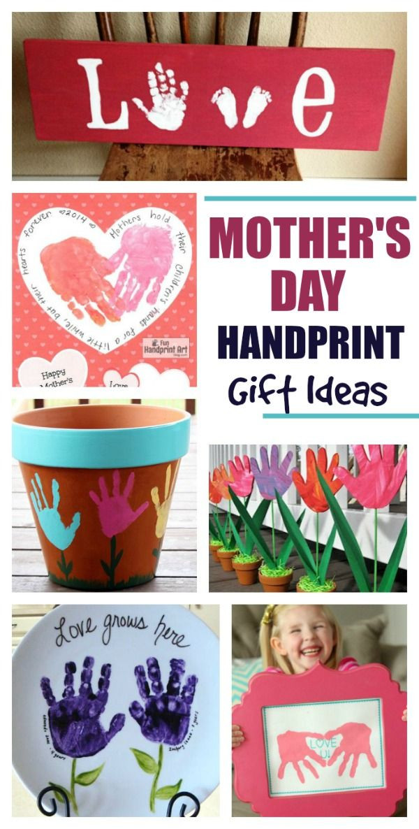 Pinterest Mothers Day Gift Ideas  20 adorable handprint t ideas for Mother s Day