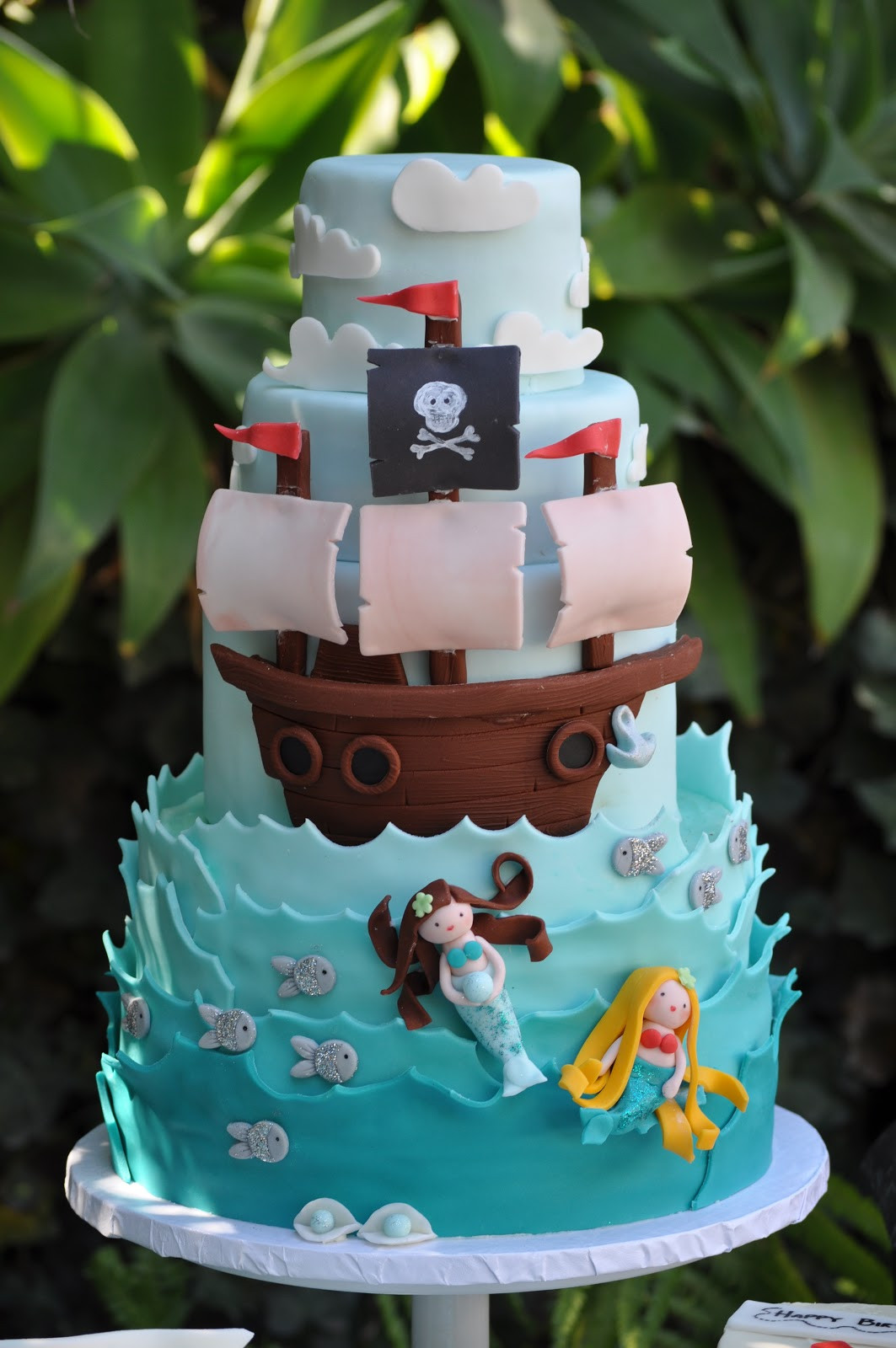Pirate Birthday Cake  A Pirate and Mermaid Party