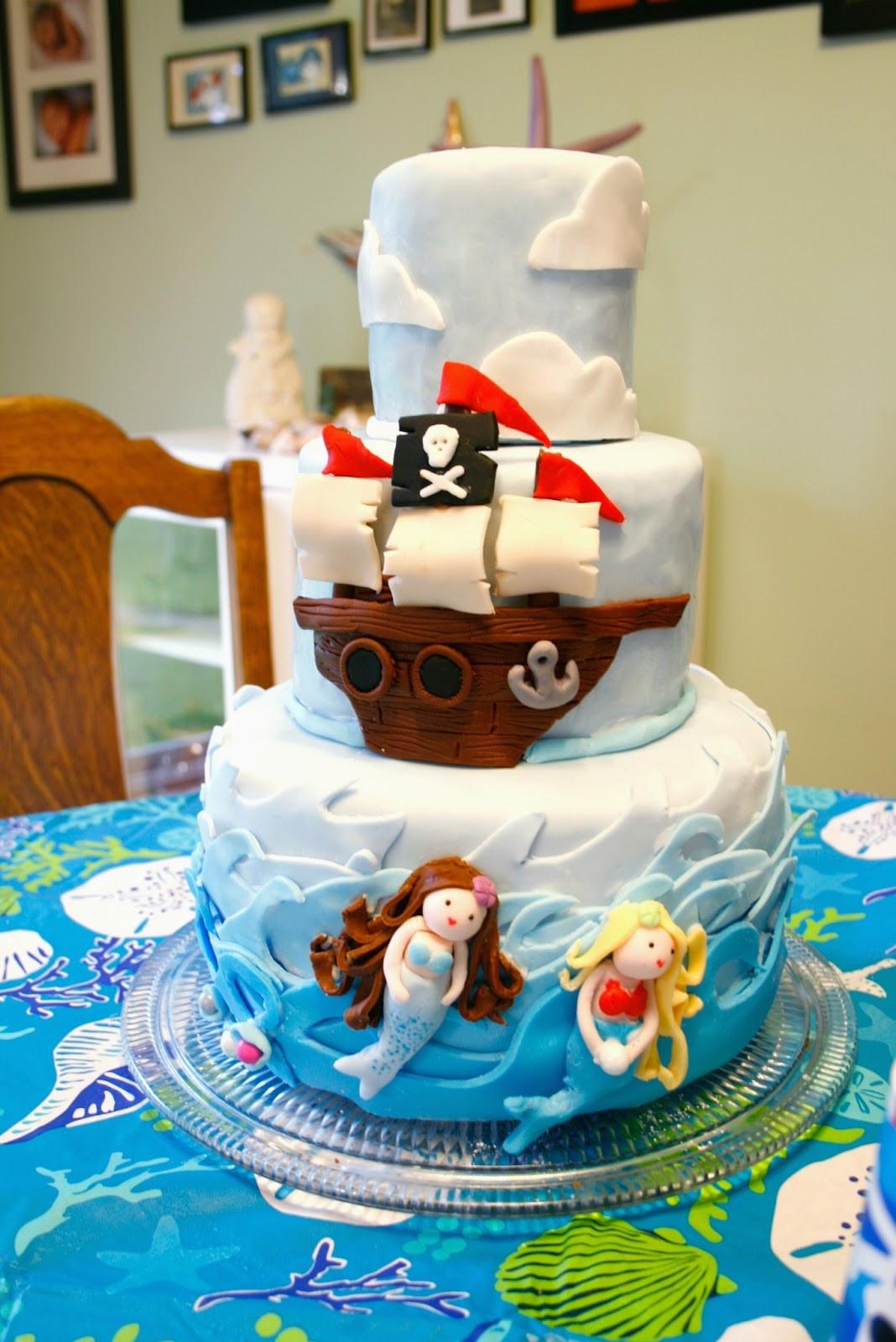 Pirate Birthday Cake  The Dieter Family Mermaids and Pirates Maya turns 5
