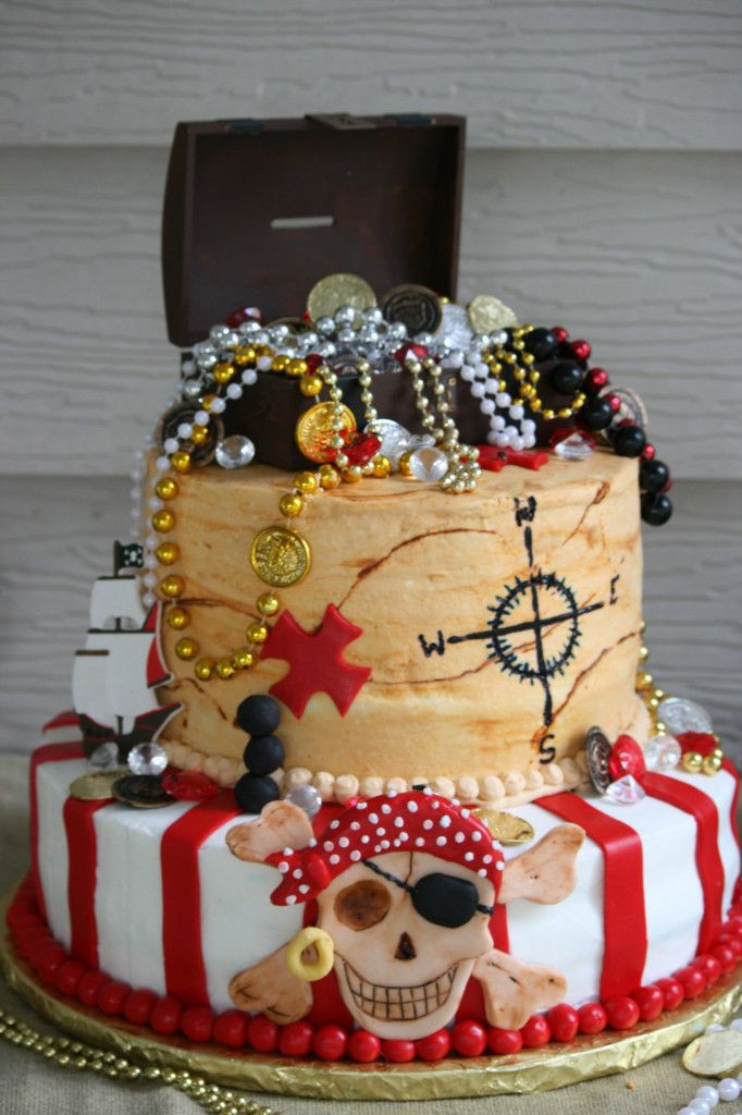 Pirate Birthday Cake  25 great ideas about Treasure map cake on Pinterest