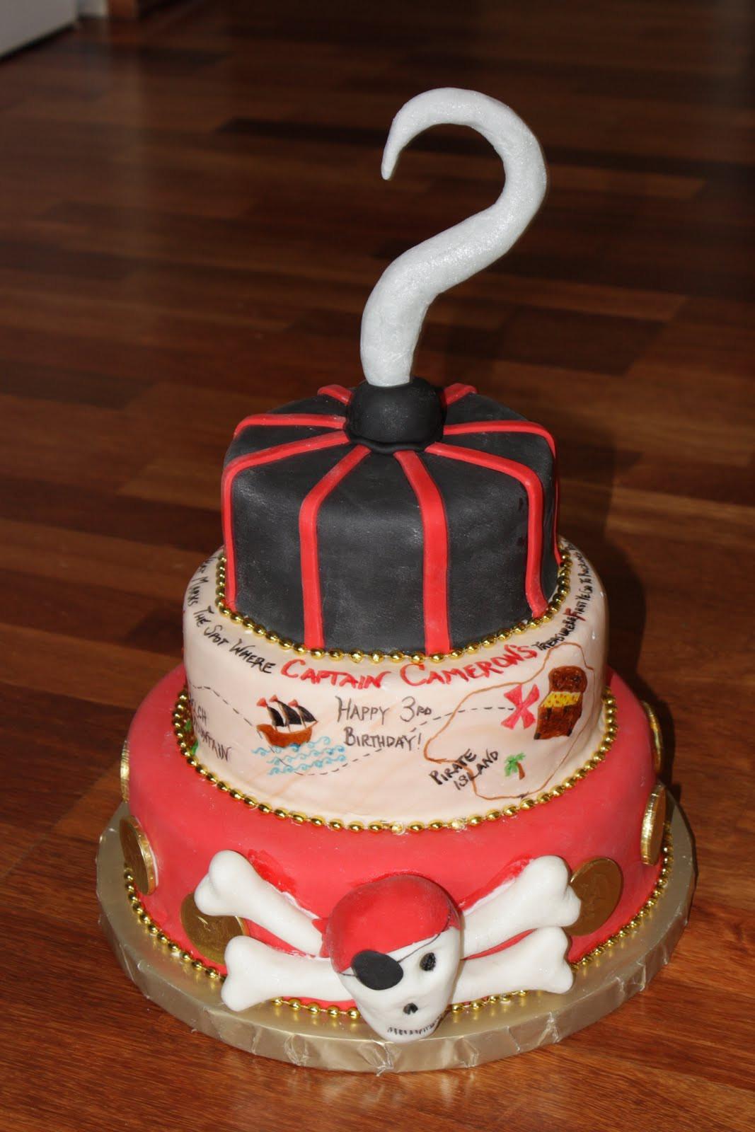 Pirate Birthday Cake  Custom Cakes By Britt Pirate Birthday Cake