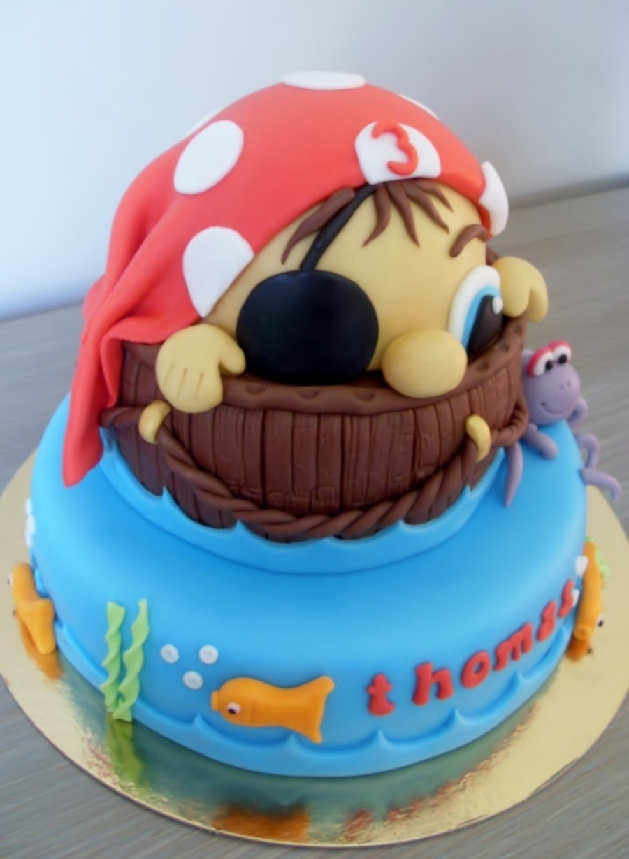 Pirate Birthday Cake  Little Pirate Birthday Cake CakeCentral