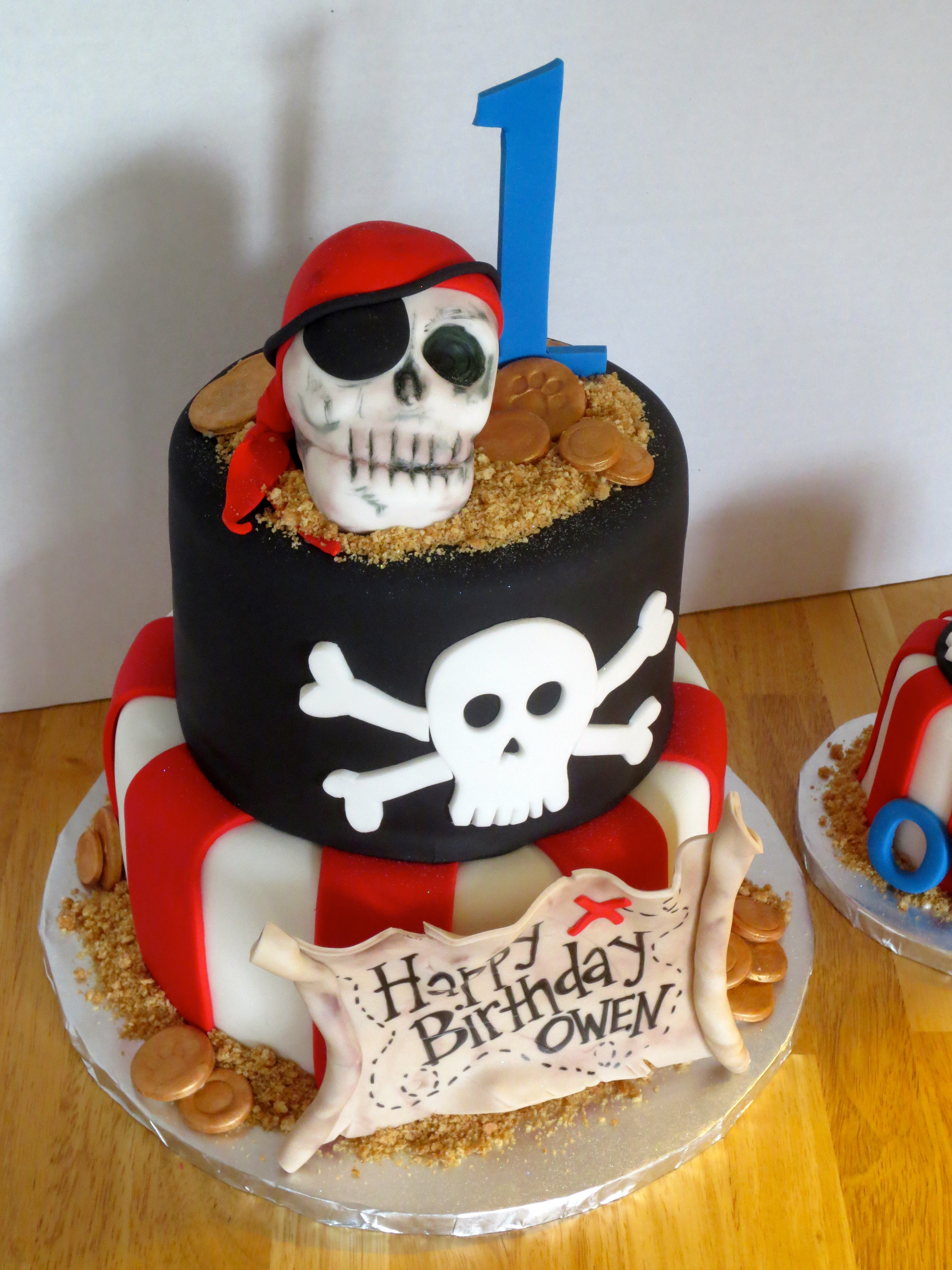 Pirate Birthday Cake  Pirate Theme Cake with Matching Smash Cake