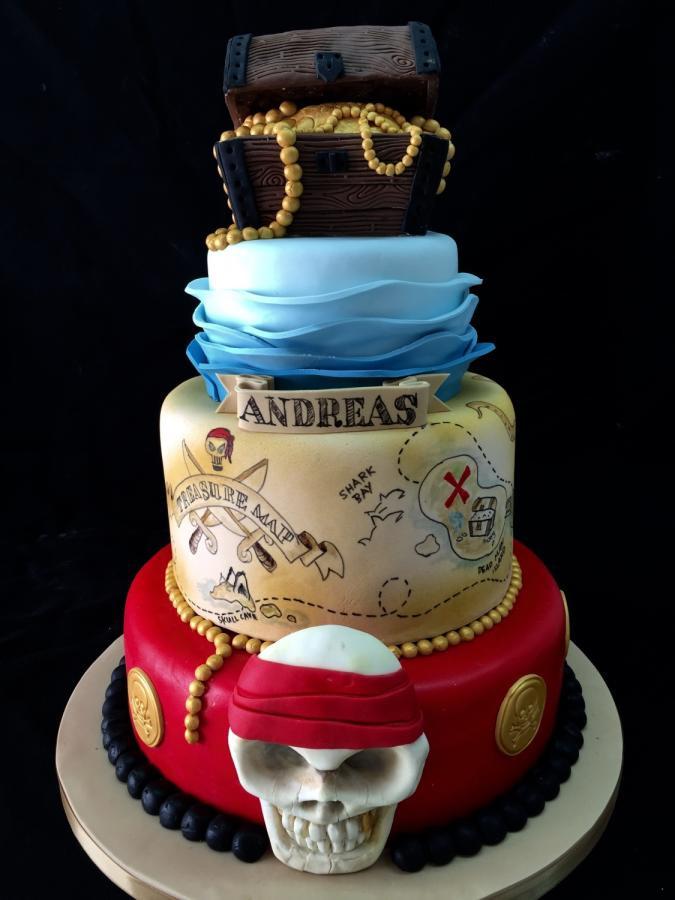 Pirate Birthday Cake  Treasure chest pirate theme birthday cake Cake by