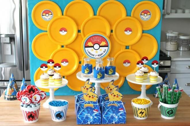 Pokemon Birthday Party Decorations  21 Top Pokemon Go Birthday Party Ideas Spaceships and