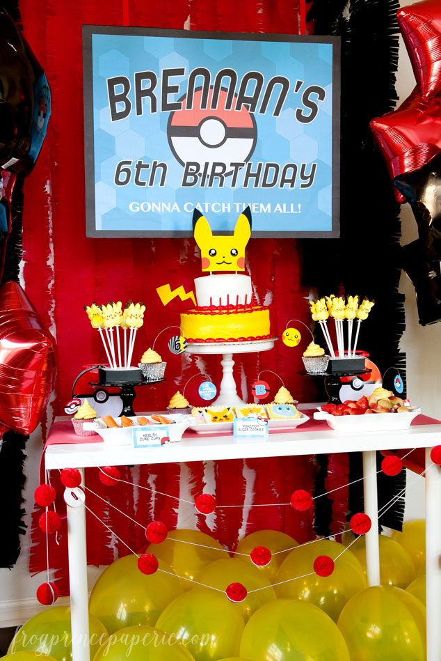 Pokemon Birthday Party Decorations  Easy Pokemon Birthday Party Ideas Page 4 of 4 Frog