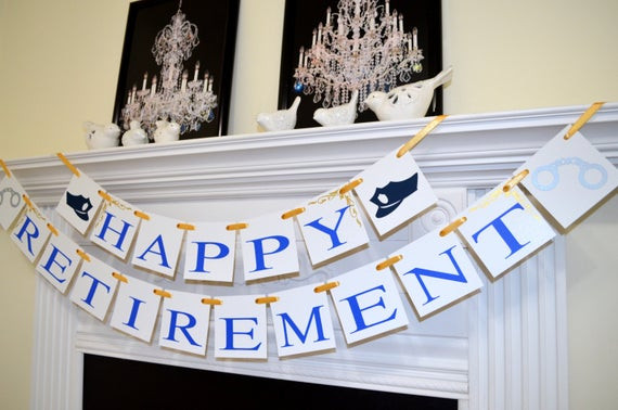 Police Officer Retirement Party Ideas  Police ficer Retirement Banner Police cap handcuff