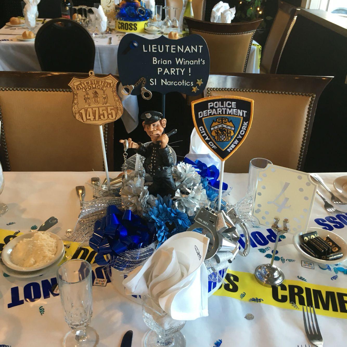 Police Officer Retirement Party Ideas  Centerpiece idea
