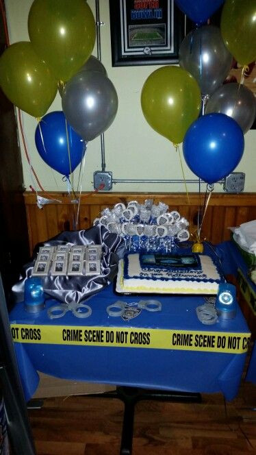 Police Officer Retirement Party Ideas  Cake Table Police Retirement Party in 2019