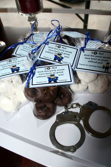 Police Officer Retirement Party Ideas  Cops & Robbers Party Favor Party Ideas
