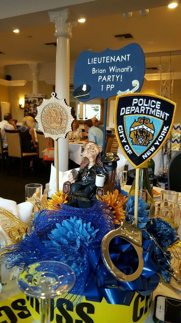 Police Retirement Party Ideas  Best 20 Retirement Party Centerpieces ideas on Pinterest